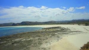 Tanjung Aan dari sisi kanan