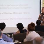 """Dirjen Pengelolaan Ruang Laut Brahmantya Satyamurti menjadi pembicara acara Media Breakfast Meeting Dengan Tema """" Practical Solution to the Ocean Plastics Challenge"""" di Nusa Dua, Bali"""