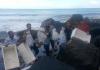 Sejumlah 33.800 ekor benih lobster yang berhasil digagalkan dari upaya penyelundupan di Lampung, Kamis (11/4), telah dilepasliarkan di Pantai Konservasi Hurun, Kab. Pesawaran. Dok. Humas BKIPM