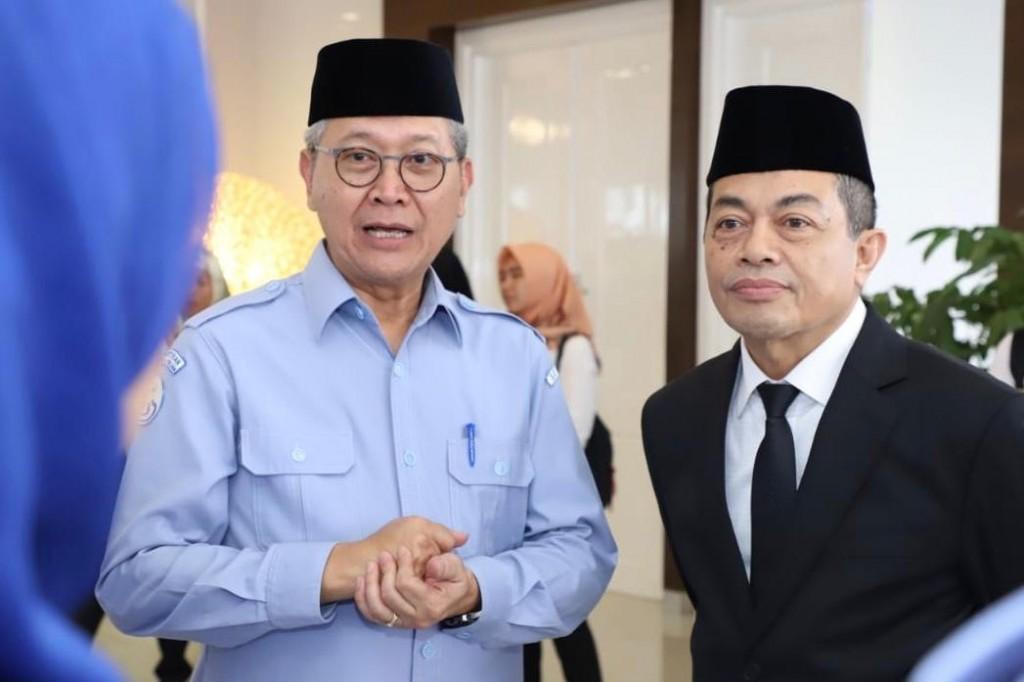 Plt Sekjen KKP Irjen Pol Antam Novambar bersama Dirjen PDSKP Nilanto Perbowo (Foto: KKP)